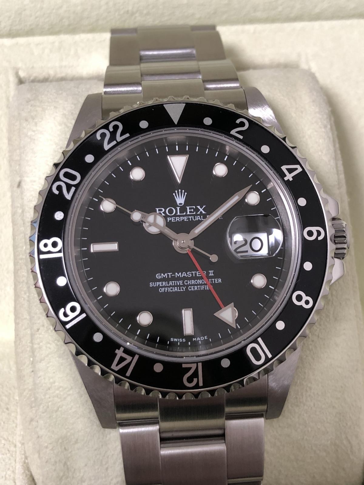 new product e21cc 018d5 ホーム :: トケマー :: ROLEX / ロレックス :: ROLEX ロレックス GMTマスターII 16710黒 D番