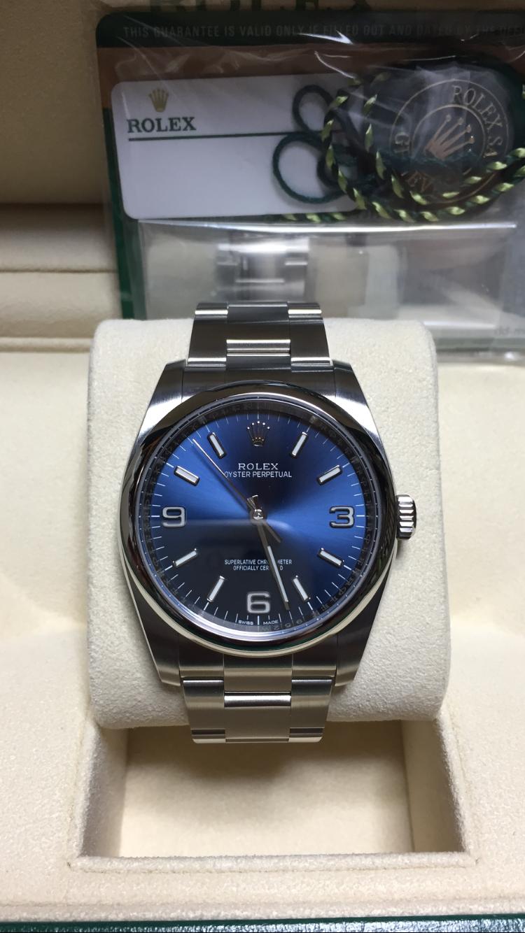 ROLEX オイスターパーペチュアル36 ブルー 116000