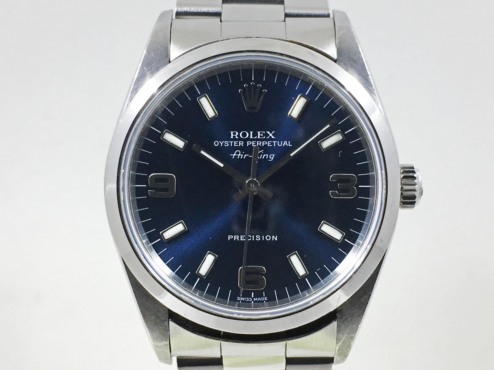 best sneakers 9561d a60bd ホーム :: トケマー :: ROLEX / ロレックス :: エアキング :: 【現金のみ】ロレックス 14000 エアキング Aシリアル  ブルー文字盤 保証書あり 中古品【トケマー宅配出品(出品代行)】201712036